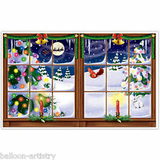 Christmas Window Scene Setter Add-On Prop - SNOWY CHRISTMAS