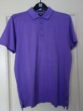HUGO BOSS Black Label Men's Cotton Polo Shirt Dark Lavender Size XL Regular Fit