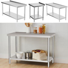 More details for commercial stainless steel work bench catering table kitchen shelf worktop 2-6ft