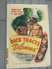 """Vintage 1940-1950 """"Dick Tracy Dilemma"""" Motion Picture Movie Promotion Poster"""