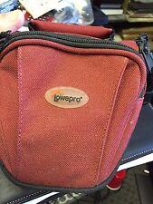 LowePro EX 220 camera SHOULDER OR WAIST bag for DIGITAL OR 35MM MAROON NEW