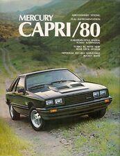 MERCURY CAPRI 1980 Stati Uniti del mercato delle vendite BROCHURE RS TURBO RS GHIA
