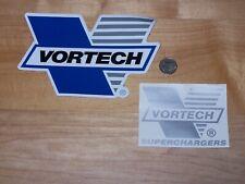 2 - Different Original Vortech Superchargers - decals/stickers  NHRA    HOT ROD