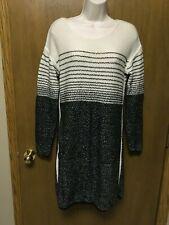ATHLETA Fireside Merino Wool Sweater Dress Ivory Black size S Small #152604 KAS