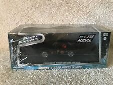 "Johnny's 2000 Honda S2000 Black ""The Fast and The Furious"" Movie (2001) 1/43 Die"