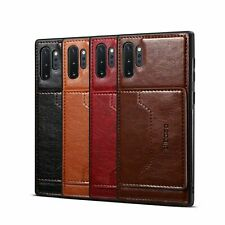 For Samsung Galaxy Note 10 Plus Luxury Slim Card Pocket Leather Back Case Cover