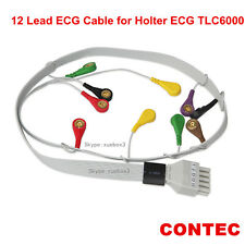 CONTEC 12 Lead ECG Wire Cable for Holter ECG TLC6000,NEWEST