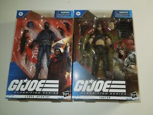 GI Joe Classified Series Zartan & Cobra Infantry  IN HAND READY TO SHIP NOW!!!!