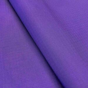 "Nylon Ripstop Fabric PU Coated 70 Denier 1.9oz 62/63"" Wide Waterproof Tent Kite"