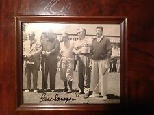 Rare gene sarazen autographed framed photo! One of the games greatest!