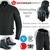 Motorbike Motorcycle Suit Jacket Trousers Waterproof Protection Biker CE Armour