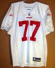 4e5323a54cb 2009 SAN FRANCISCO 49ERS BEAR PASCO WHITE  77 NFL Size XL PRACTICE JERSEY