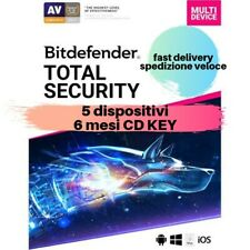 Bitdefender Total Security 2019 5 Dispositivi 6 Mesi CD KEY