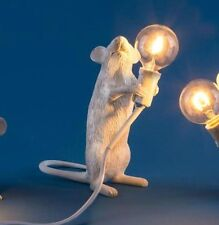 Seletti Standing Mouse Lamp H14.5cm x 6cm x 13.3cm Led light bulb included
