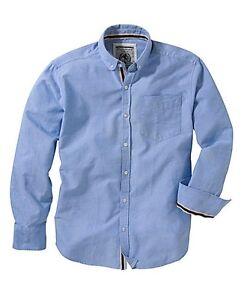 Mens Shirt flintoff By Jacamo Size xl-5xl UK light/ baby blue  bnip