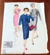 Vintage 1950's VOGUE Couturier Design Dress & Jacket Sewing Pattern Bust 32