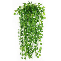 12pcs Artificial Plants Creeper Ivy Leaves Simulation Rattan Fake Vines
