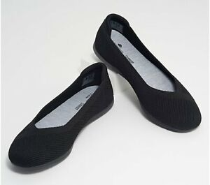 CLOUDSTEPPERS by Clarks Washable Knit Slip-Ons - Carly Wish Black 8.5 M NEW