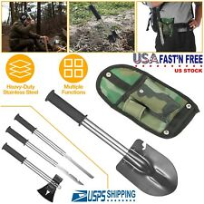 6-in-1 Survival Emergency Camping Hiking Knife Shovel Axe Saw Gear Kit Tools US