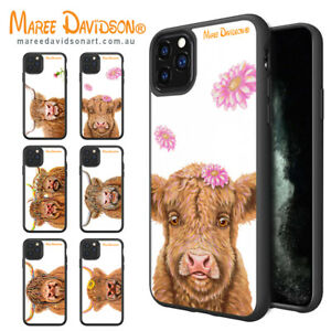 Maree Davidson Art iPhone 12 Pro XS MAX X Cows Artistic Print Cases Bumper Cover