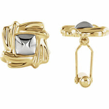 Cuff Links In 18K Yellow & White Gold