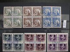 Czechoslovakia 1919,Legionary stamps blocks of 4, Special BLUECancellation #BJF#