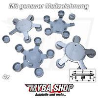 4x Nabenkappen Nabendeckel Felgendeckel Radnabe für Audi A4 A5 A6 130mm - 140mm