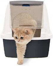 Catit Magic Blue Hooded Litter box Jumbo size multi cat ammonia absorption