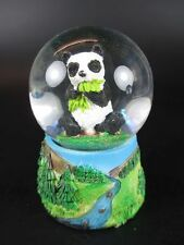 Schneekugel Pandabär Snowglobe Animal,6,5 cm Souvenir Germany,Glitzerkugel