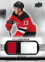 2017-18-PREMIER ROOKIES -NICO HISCHIER  TRUE ROOKIE AUTO PATCH  #/ 99  NJ DEVILS