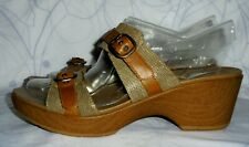 Women's Brown Leather DANSKO Sandals Size EUR 40, US 9.5 - 10 M GREAT