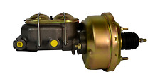 "7"" STREET ROD SINGLE POWER BRAKE BOOSTER W/ DUAL BAIL CAST MASTER CYLINDER"