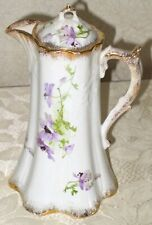 Victorian Warwick China Lidded Floral Chocolate Pot