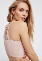 NEW Free People Intimately High Neck Bra Crop Top in Ballet Sz XS/S & M/L $54.11