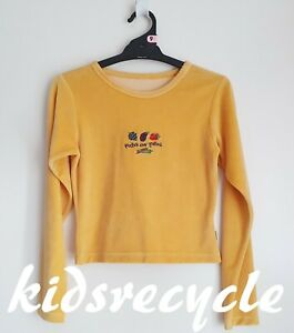 PUMPKIN PATCH Yellow STRETCH VELVET Long Sleeve Top > Size 9 VGC