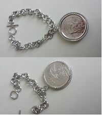Bracciale Argento 925 Moneta 1000 lire Concordia Roma Capitale Collezione Origin