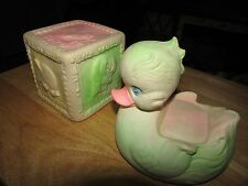 VINTAGE BABY SQUEEZE TOYS DUCK BLOCK ARROW EDWARD MOBLEY 1968