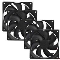 4pcs 120mm 120x25mm 12V 4Pin DC Brushless PC Computer Case Cooling Fan 1800PRM