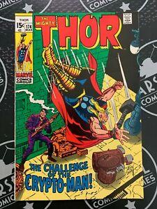 The Mighty Thor #174 1970 VF 8.0 Avengers Loki Marvel Comics Silver Age