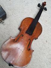 "Very old 4/4 Violin violon deeply flamed back, cracks ""Bernardel Paris 1871"""