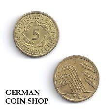 5 Rentenpfennig 1923 - 1924 A D E F G J - bitte auswählen - Weimarer Republik