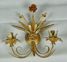 APPLIQUE LAMPADA FERRO BATTUTO ARTIGIANALE ANTICO RUSTICO COUNTRY MADE ART.366