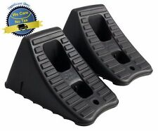 2 Pc Heavy Duty Wheel Chocks Stop Tire RV Camper Trailer Car Truck Stopper Block