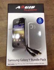 Samsung Galaxy Bundle Pack-Y Telefono Custodia, Protezione Schermo & Micro Cavo USB