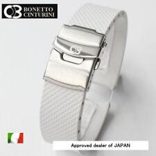 20 mm Bonetto Cinturini 300D White, Rubber strap made in Italy