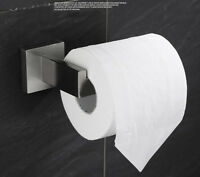 Chrome Square Tissue Roll Toilet Paper Holder 304 Stainless Steel Wall Mounted