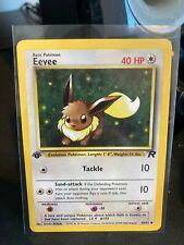 Eevee 1st Edition Team Rocket Vintage WotC Pokemon Card