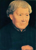 Oil painting hans memling - portrait of an old man hand painted free shipping