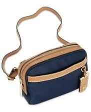 Tommy Hilfiger Julia Convertible Nylon Belt Bag Crossbody - Navy Blue / Tan