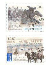 Australia-Battle of Beersheba set of 2 fine used(3985-6)-Military-Horses